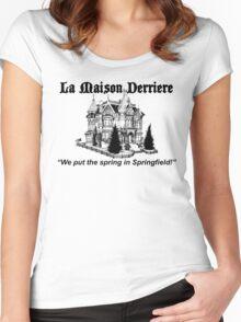 La Maison Derriere – Bart After Dark, Simpsons Women's Fitted Scoop T-Shirt