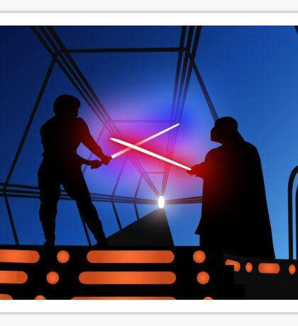 Luke vs Vader on Bespin Sticker