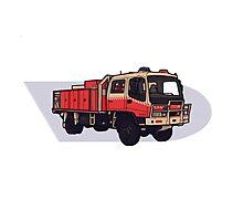 NSW Rural Fire Service Cat1 firetruck Photographic Print