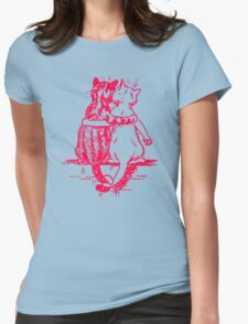 Vintage Wain Cat Tails Womens Fitted T-Shirt
