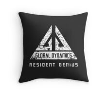 Eureka-Resident Genius Grunge Throw Pillow