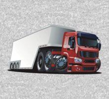 Cartoon cargo semi-truck One Piece - Short Sleeve