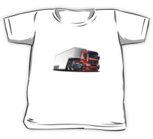 Cartoon cargo semi-truck Kids Tee