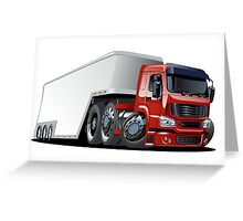 Cartoon cargo semi-truck Greeting Card
