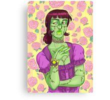 Halloween Girls -- Zombie Canvas Print