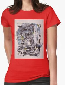 Olympus Armor of Poseidon, Original Abstract painting Womens Fitted T-Shirt