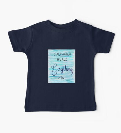 Saltwater Heals Everything Wave Symbol Baby Tee