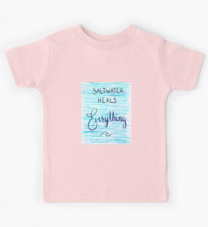 Saltwater Heals Everything Wave Symbol Kids Tee