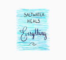 Saltwater Heals Everything Wave Symbol Unisex T-Shirt