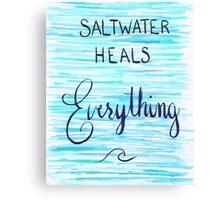 Saltwater Heals Everything Wave Symbol Canvas Print