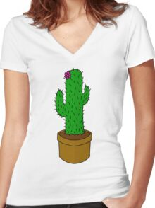 Prickly pickle Women's Fitted V-Neck T-Shirt