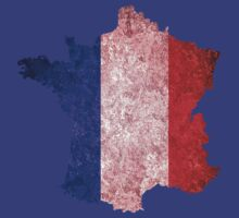 France Flag Map by Nhan Ngo