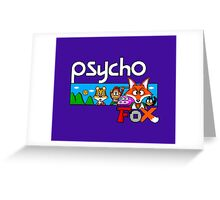 PSYCHO FOX - SEGA MASTER SYSTEM Greeting Card