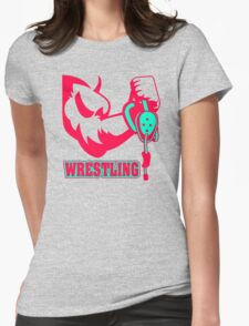 Wrestling Hand Womens Fitted T-Shirt