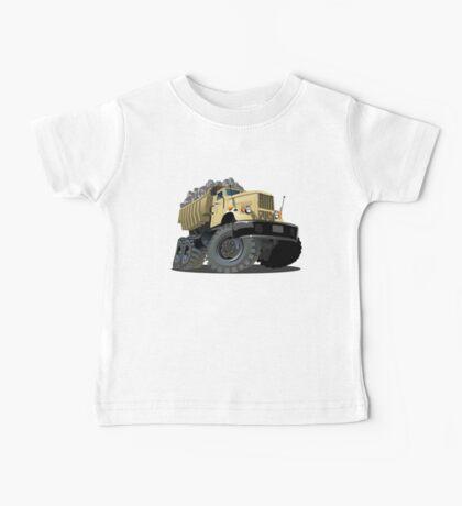 Cartoon Dump Truck Baby Tee