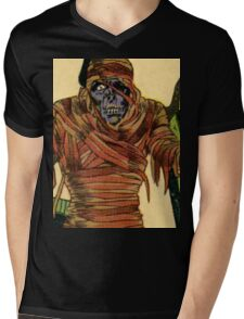 The Mummy Attacks Mens V-Neck T-Shirt