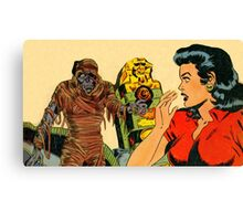 The Mummy Attacks Canvas Print