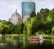 City - Boston Ma - Boston public garden by Mike  Savad