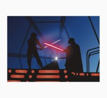 Luke vs Vader on Bespin Kids Tee