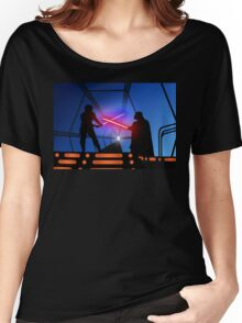Luke vs Vader on Bespin Women's Relaxed Fit T-Shirt