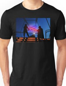 Luke vs Vader on Bespin Unisex T-Shirt