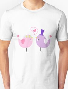 i love you bird couple Unisex T-Shirt