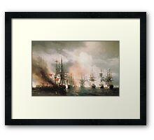 Aivasovsky Ivan - Battle Of Sinope Framed Print