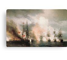 Aivasovsky Ivan - Battle Of Sinope Canvas Print