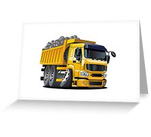 Cartoon Dump Truck Greeting Card