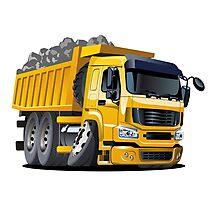 Cartoon Dump Truck Photographic Print
