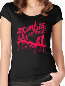 Zombie Attack Blood Women's Fitted Scoop T-Shirt