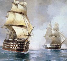 Aivasovsky Ivan - Brig Mercury Attacked By Two Turkish Ships 1892 Sticker