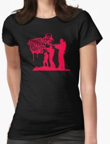 Zombie Defense Womens Fitted T-Shirt