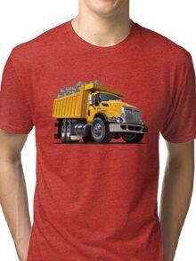 Cartoon Dump Truck Tri-blend T-Shirt