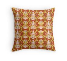 Pieuvre rouge Throw Pillow