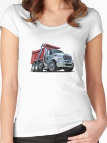 Cartoon Dump Truck Women's Fitted Scoop T-Shirt