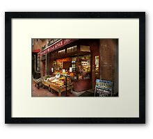 City - Boston Ma - Fresh meats and Fruit Framed Print
