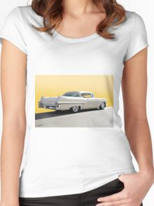 1957 Cadillac Custom Coupe DeVille Women's Fitted Scoop T-Shirt