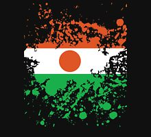 Niger Flag Ink Splatter Unisex T-Shirt