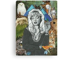 Twin Peaks Laura Palmer Owls Collage Canvas Print
