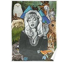 Twin Peaks Laura Palmer Owls Collage Poster