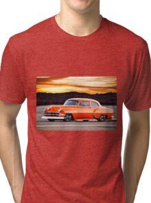 1954 Chevrolet 'Post' Custom Coupe Tri-blend T-Shirt