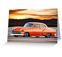1954 Chevrolet 'Post' Custom Coupe Greeting Card