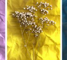 Triptych: Crumpled Flowers Sticker