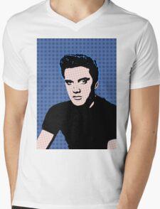 Rock God Elvis Mens V-Neck T-Shirt
