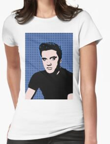 Rock God Elvis Womens Fitted T-Shirt