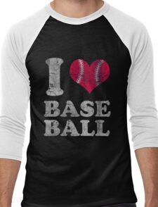 Vintage I Love Baseball Men's Baseball ¾ T-Shirt