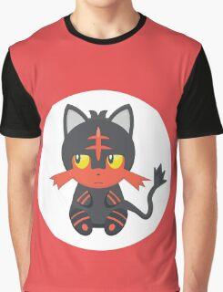 Litten Pokemon Design Graphic T-Shirt