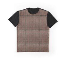 Brown Check Prince Of Wales Plaid Graphic T-Shirt