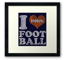 I Heart Football Vintage Framed Print